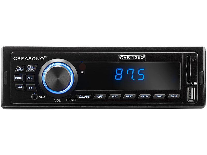 Creasono MP3-Autoradio CAS-1250 mit USB-Port & SD-Slot, 4x 25 W