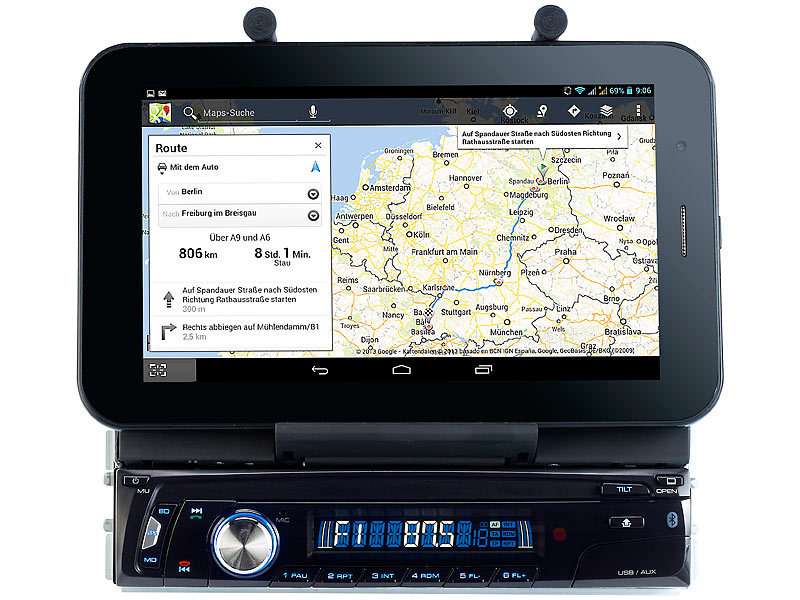 Creasono Autoradio CAS-4500tab mit Bluetooth & Tablet-Halterung bis ...