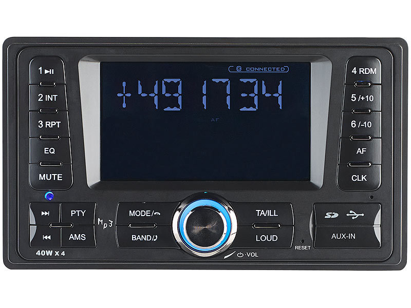 Creasono 2-DIN-MP3-Autoradio CAS-4380.bt mit RDS, Bluetooth, USB ...