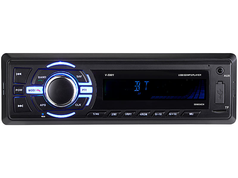 Creasono MP3-Autoradio mit Bluetooth, Freisprechfunktion, RDS, USB ...