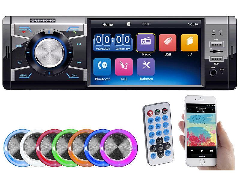 Creasono Mp3 Autoradio Mit Tft Farbdisplay Bluetooth Freisprecher