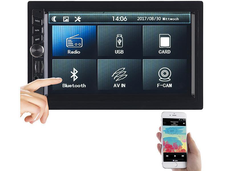 Creasono 2 Din Mp3 Autoradio Mit Touchdisplay Bluetooth