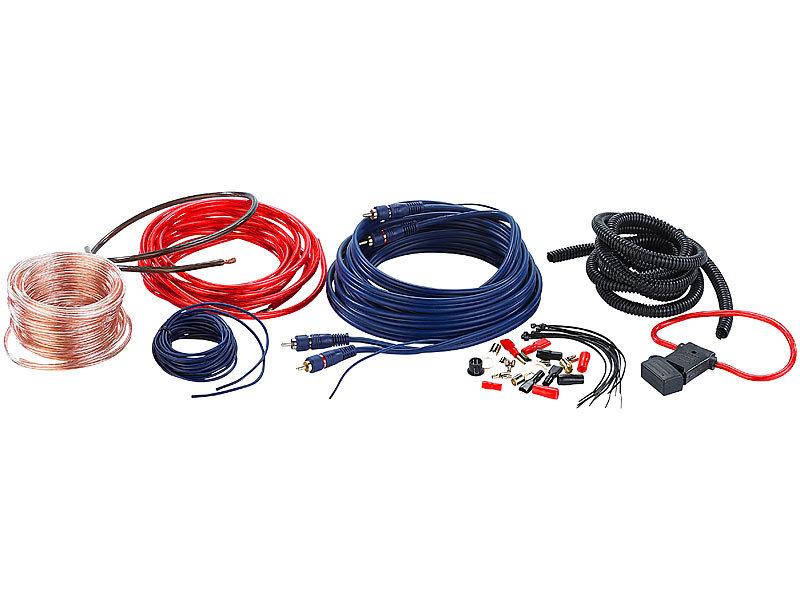 Creasono Premium-Kabelset für KFZ-HiFi-Verstärker bis 500 Watt