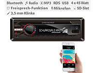 Creasono MP3-RDS-Autoradio CAS-3300.bt mit USB, SD, BT & Freisprecher