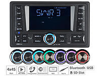 Creasono 2-DIN-MP3-Autoradio CAS-4380.bt mit RDS, Bluetooth, USB & SD, 4x 45 W