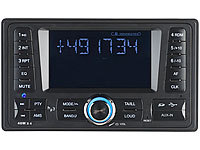 Creasono 2-DIN-MP3-Autoradio CAS-4380.bt mit RDS, Bluetooth (refurbished); Bluetooth-Autoradios (1-DIN)