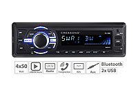Creasono MP3-Autoradio mit Bluetooth, Freisprechfunktion, RDS, USB, SD, 4x 50 W