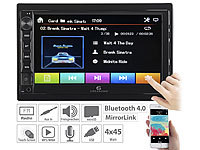 Creasono 2-DIN-MP3-Autoradio mit Touchdisplay, Bluetooth, Freisprecher, 4x 45 W