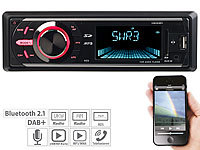 Creasono MP3-Autoradio mit DAB+, Bluetooth, Freisprecher, USB & SD, 4x 50 Watt